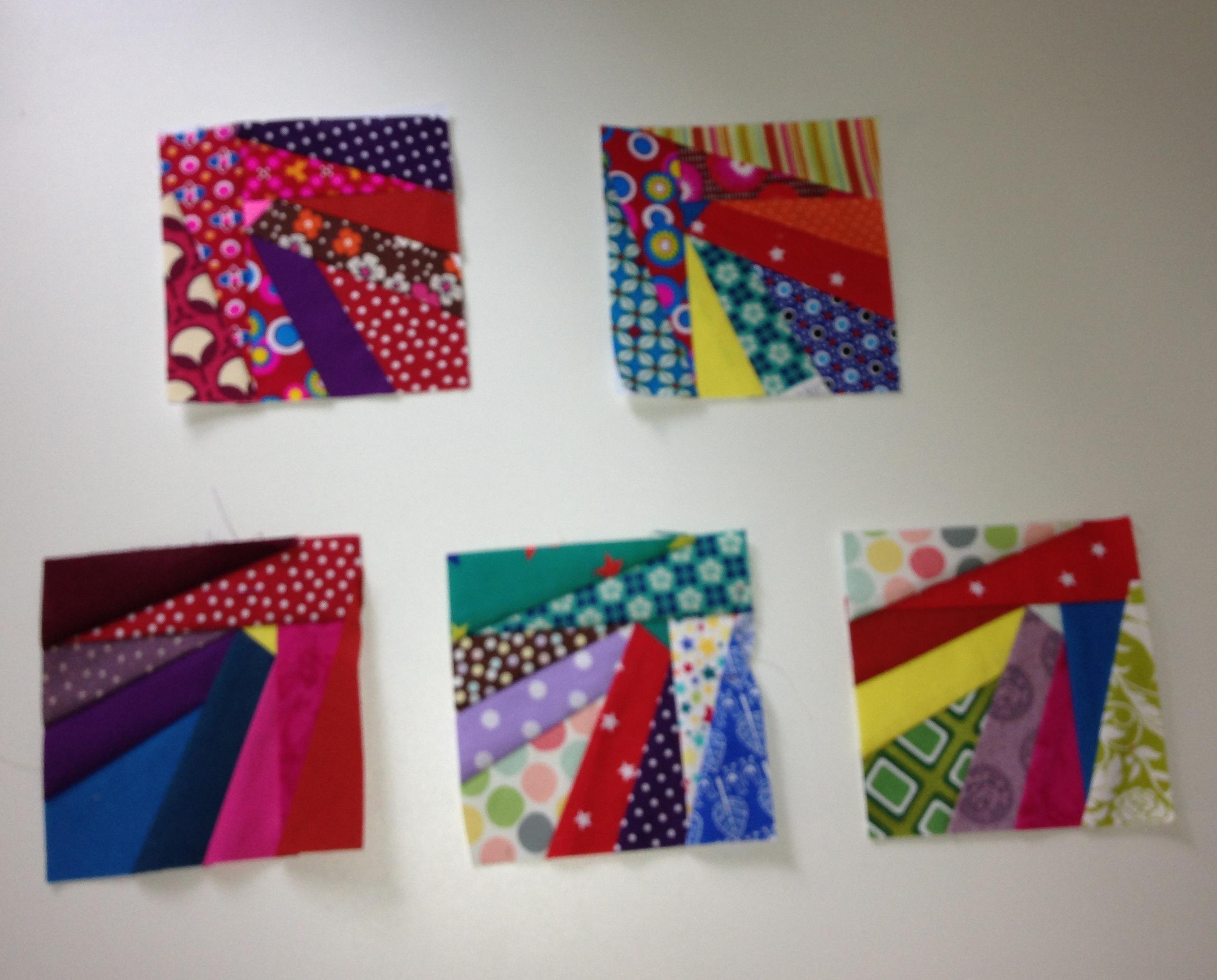 The final five practice paper pieced blocks (June 2013)