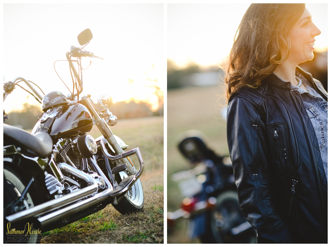 motorcycle engagement pictures