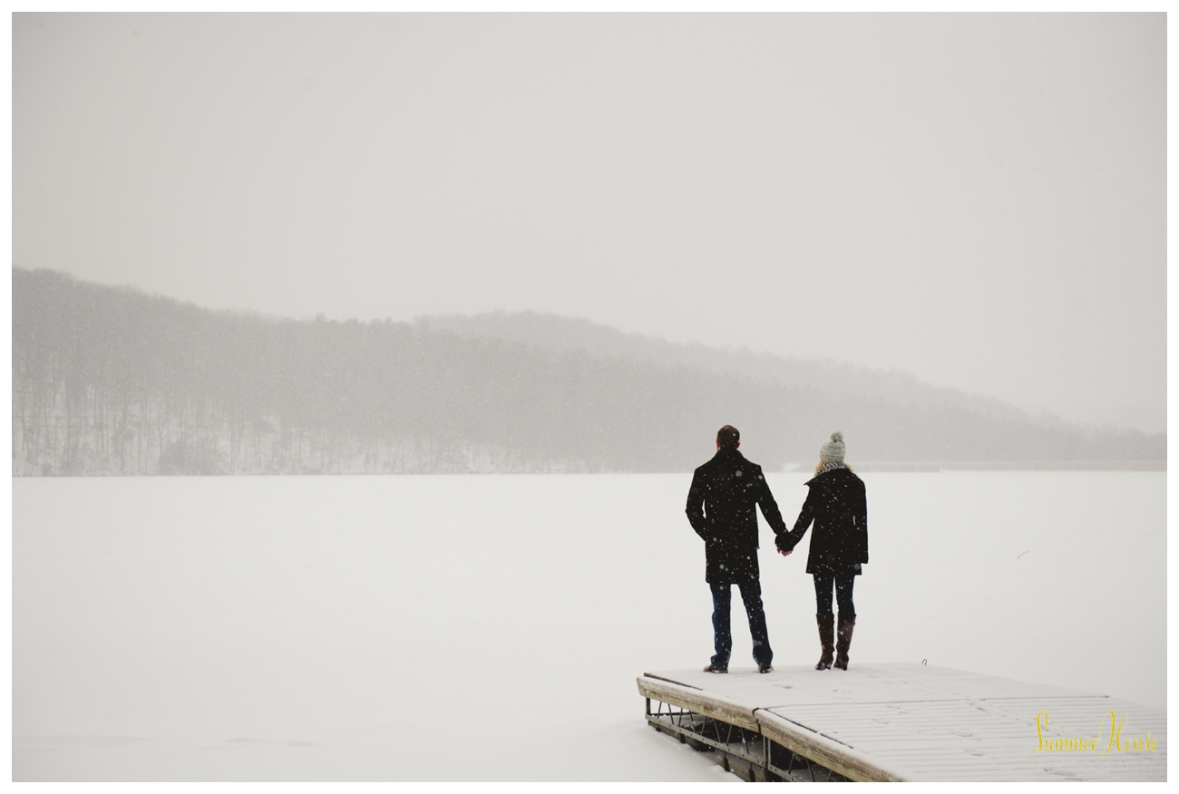 snow winter engagement photography