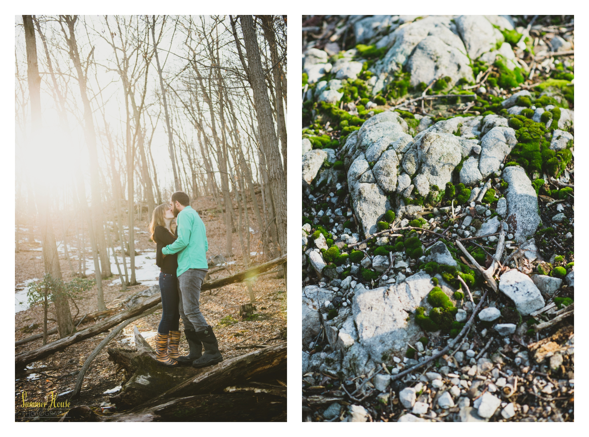 york pa woodland engagement photography