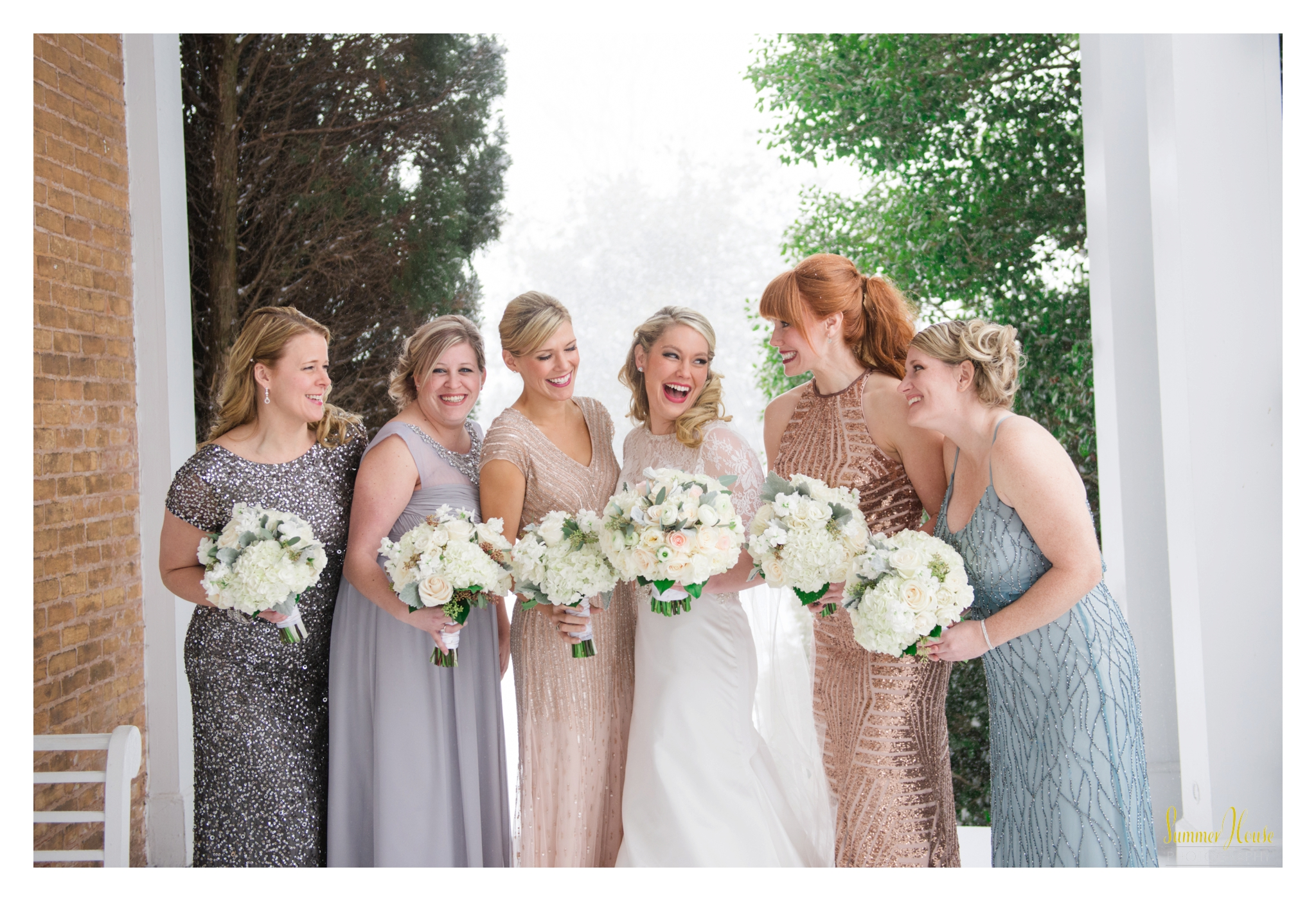 sequin bridesmaid dresses style me pretty