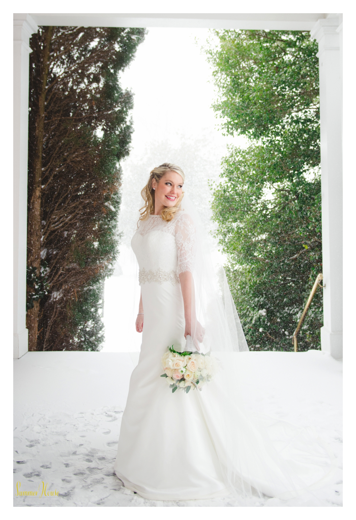 winter bride maryland estate