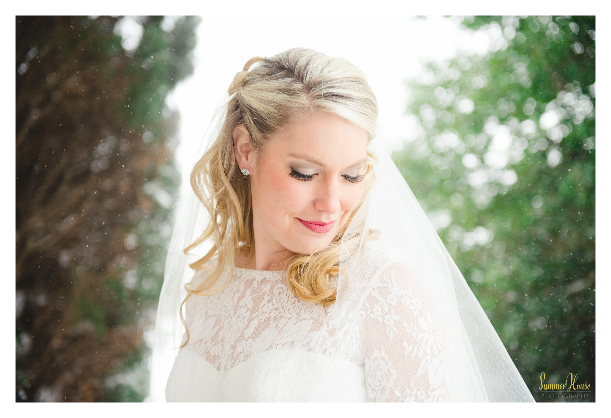 winter bride maryland estate wedding