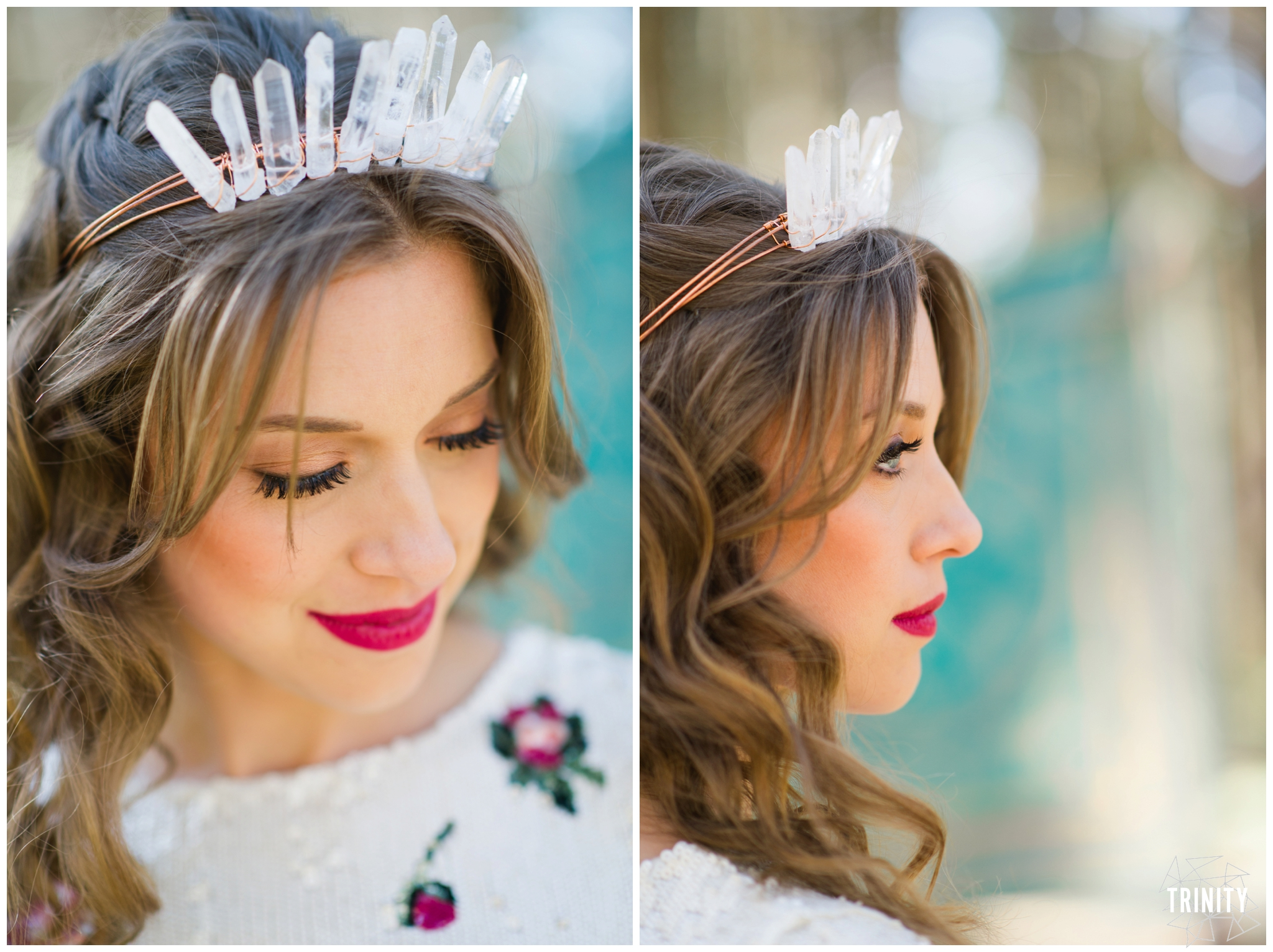 Crystal crown california wedding inspiration
