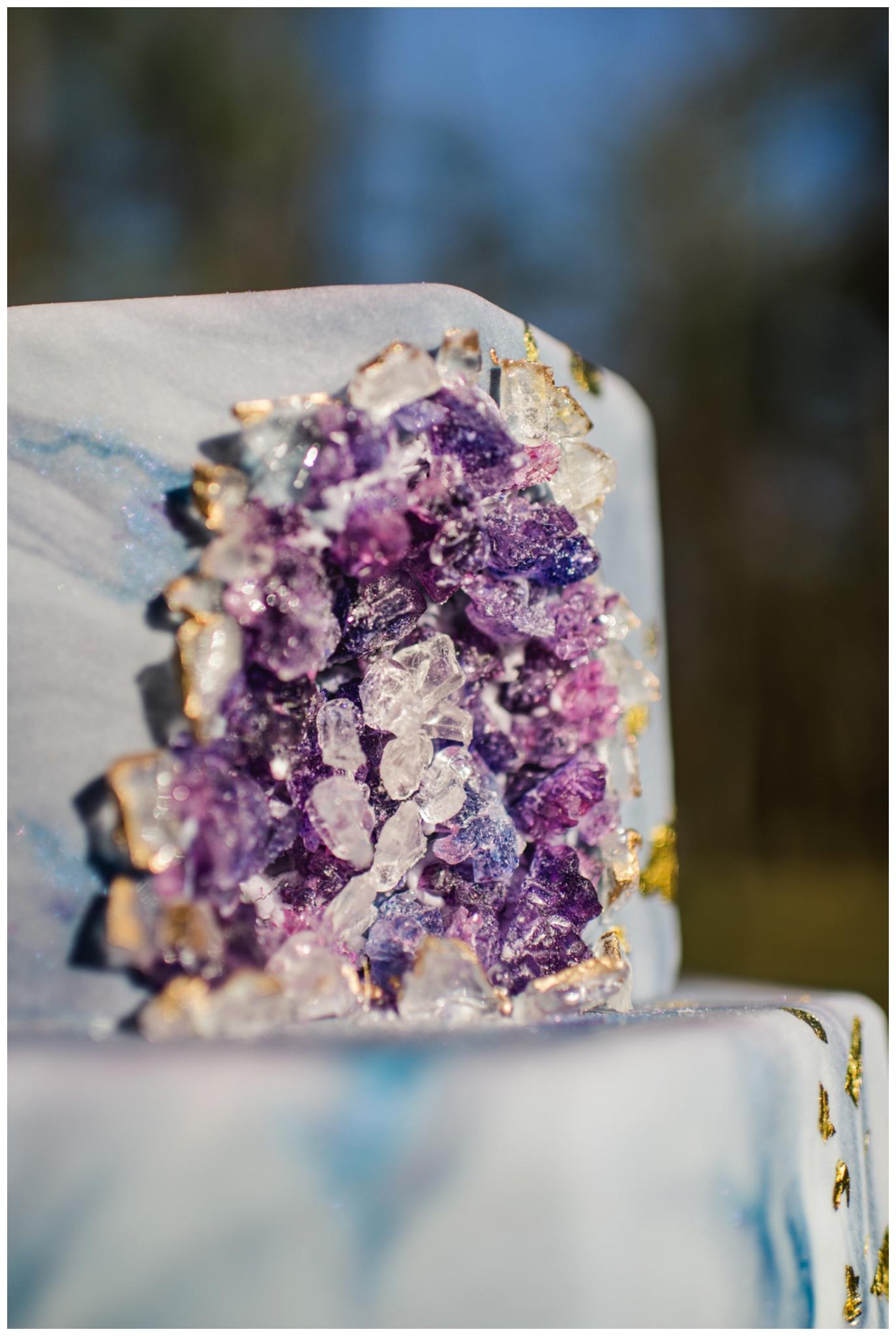 geode crystal cake