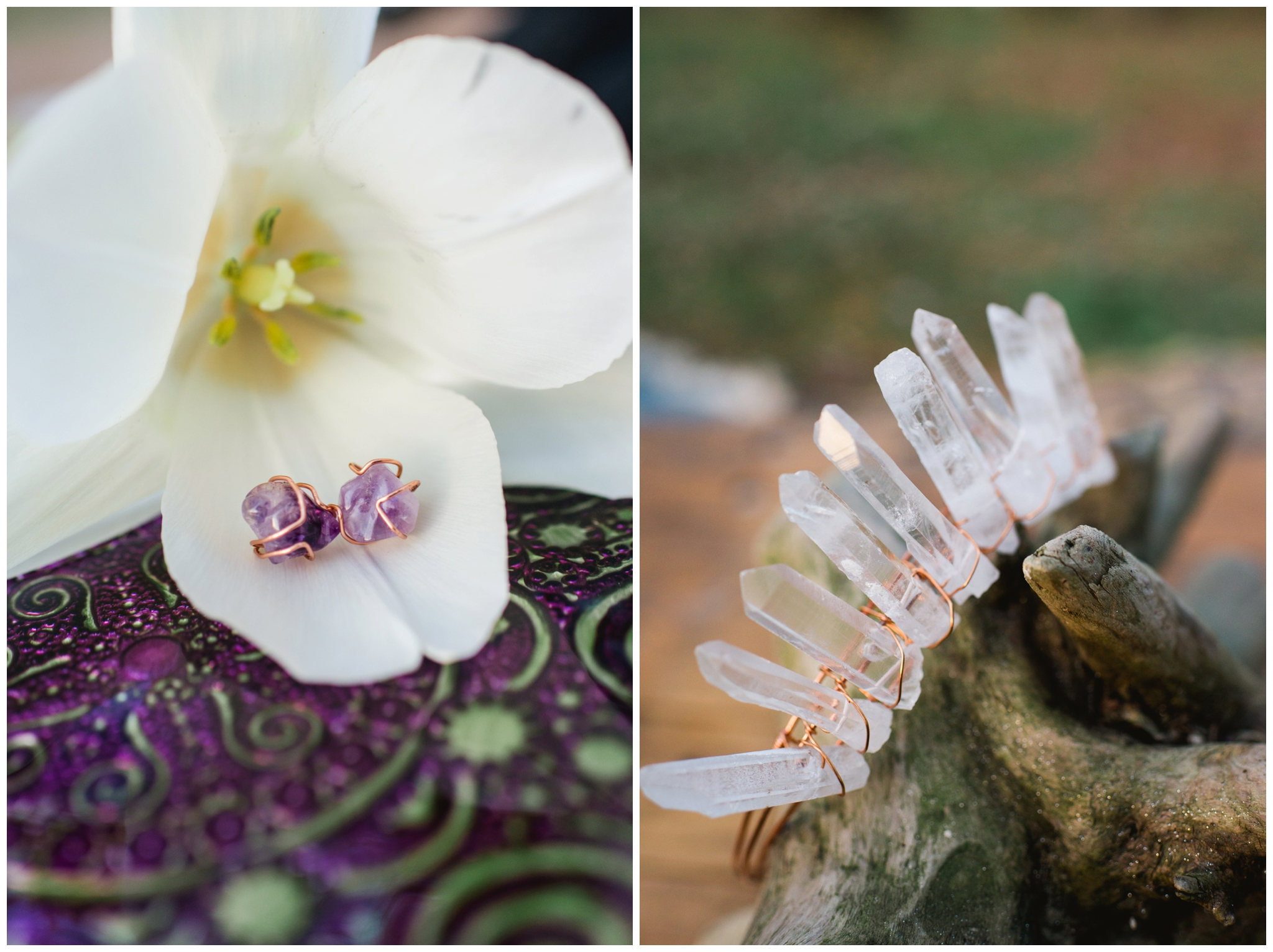 crystal geode wedding
