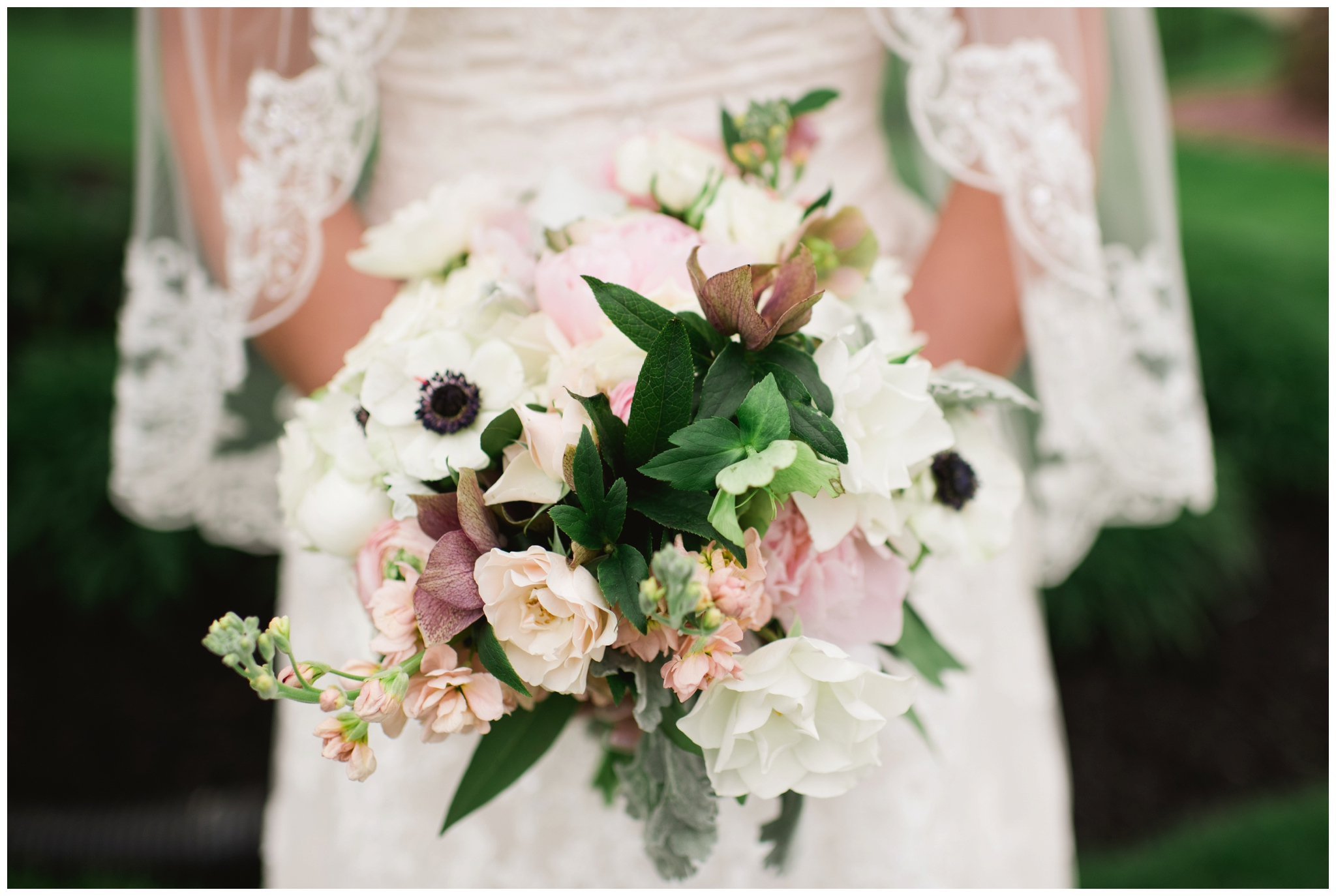 spring pink bridal bouquet