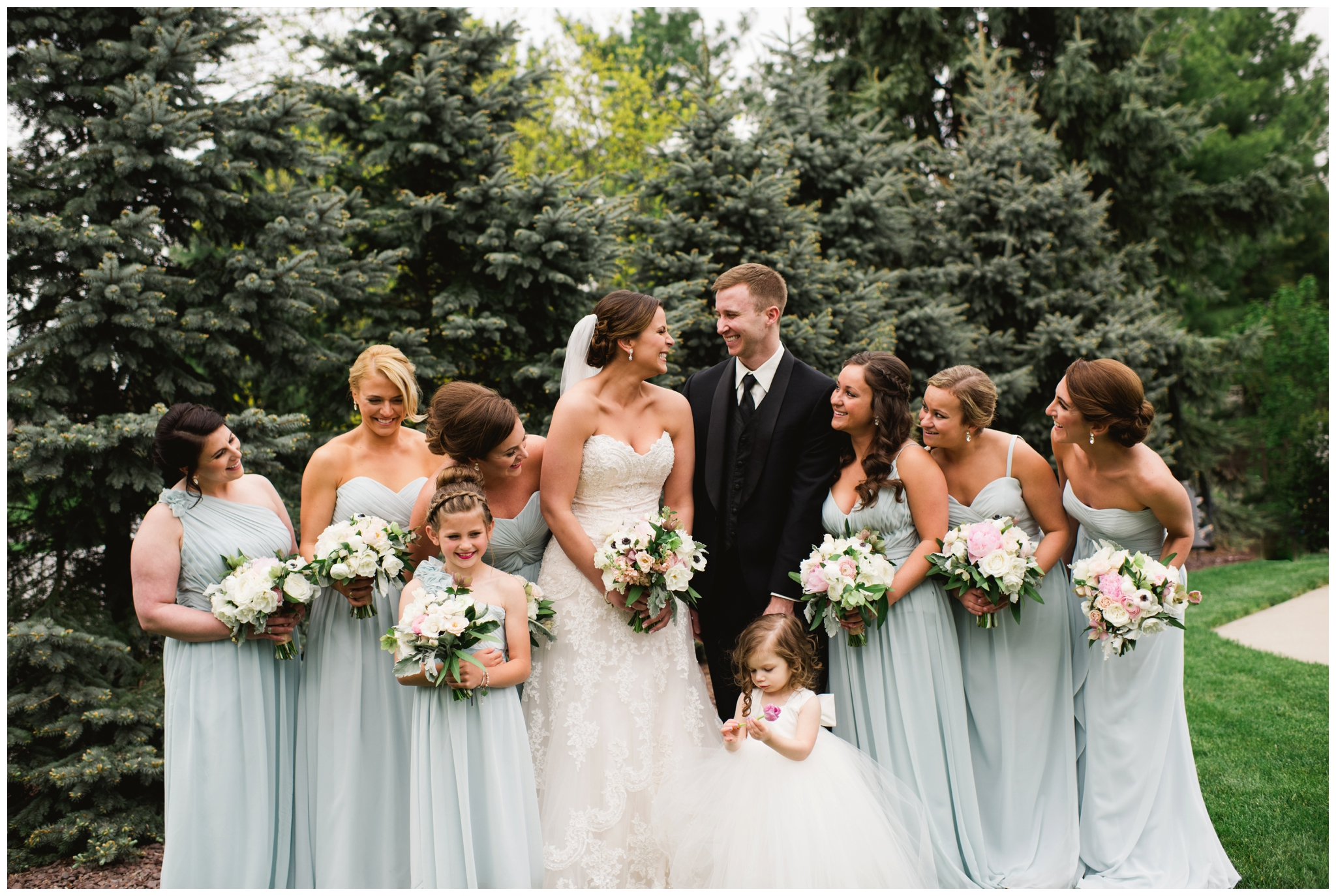 spring blue bridesmaid dresses