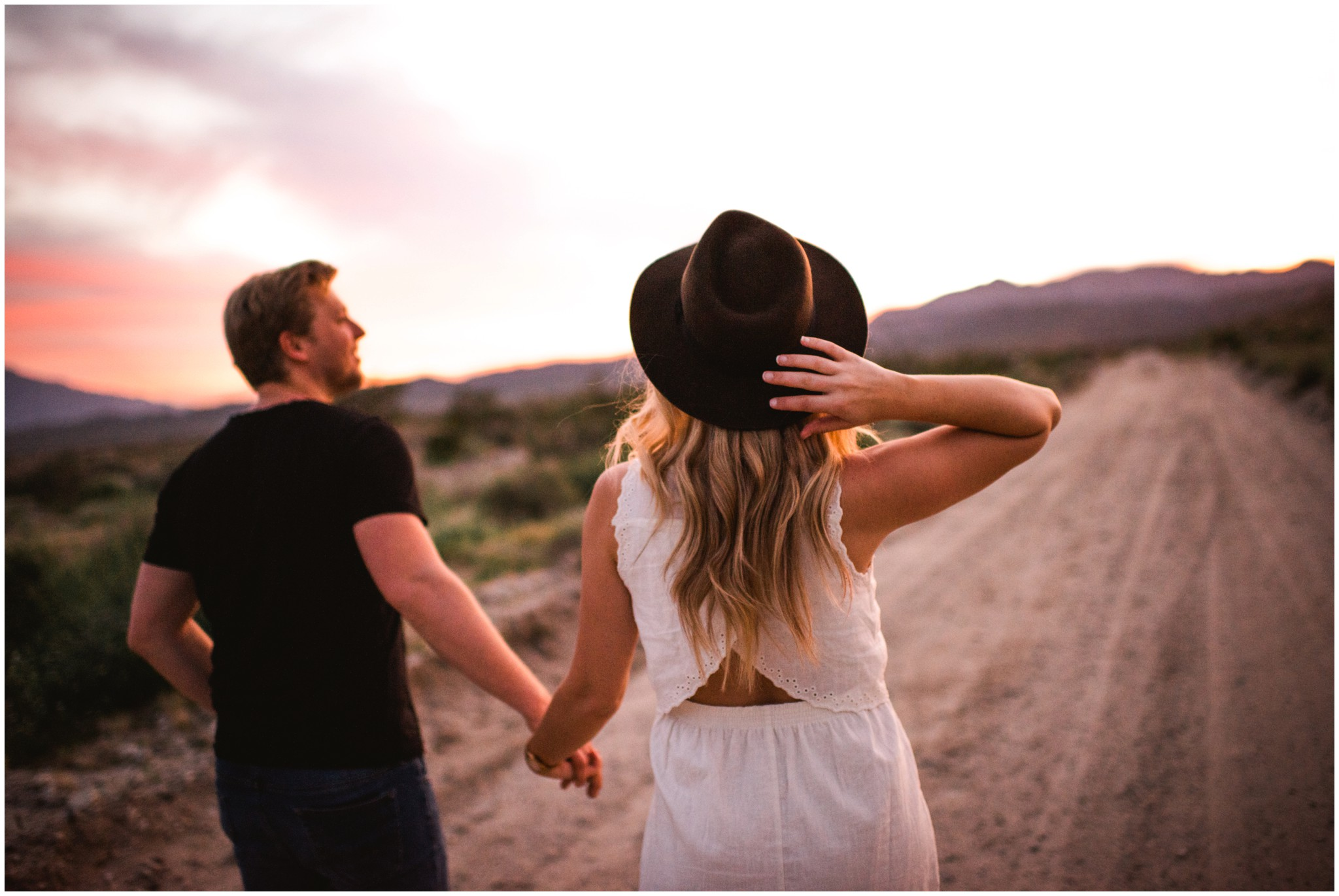 california desert engagement photography
