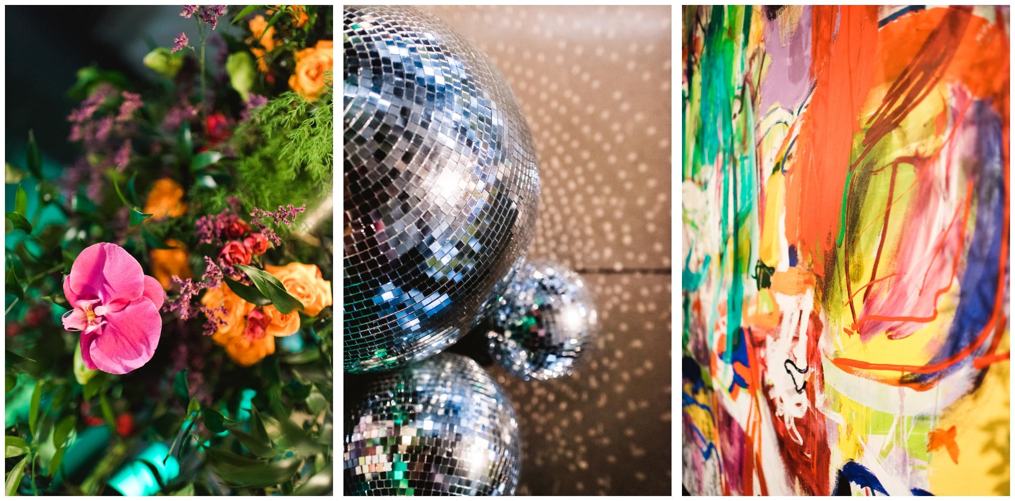 disco ball wedding