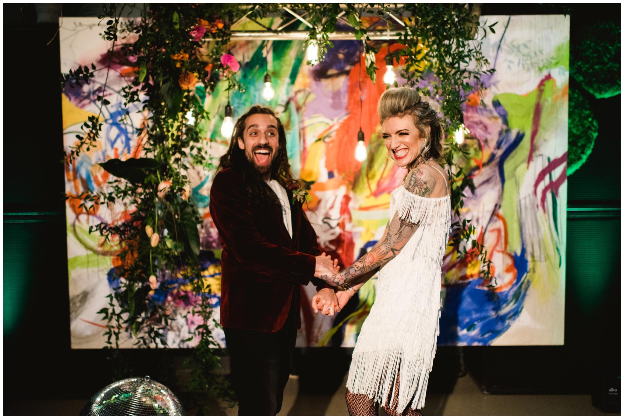 abstract art elopement