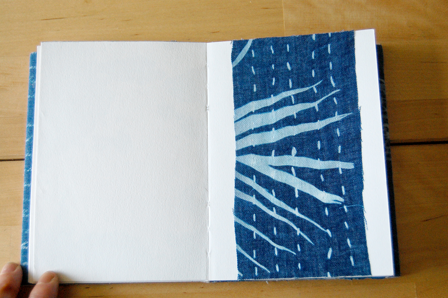cyanotype print on cotton.