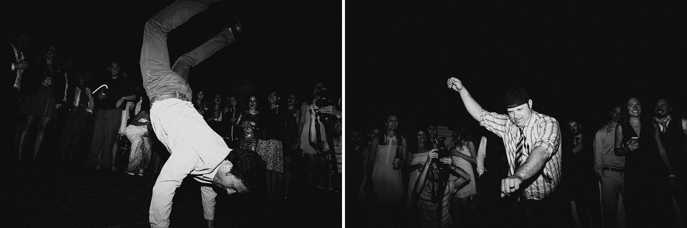 wedding black and white dancing fun