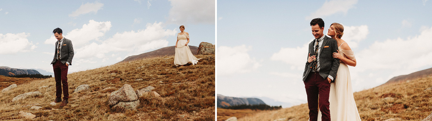 guenalla pass colorado wedding photographer first look