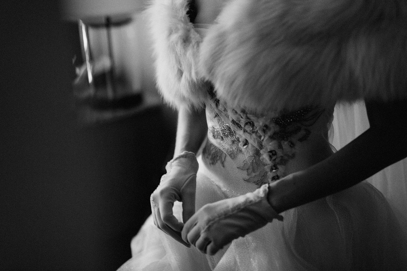 artistic creative wedding dress detail shot san francisco califo