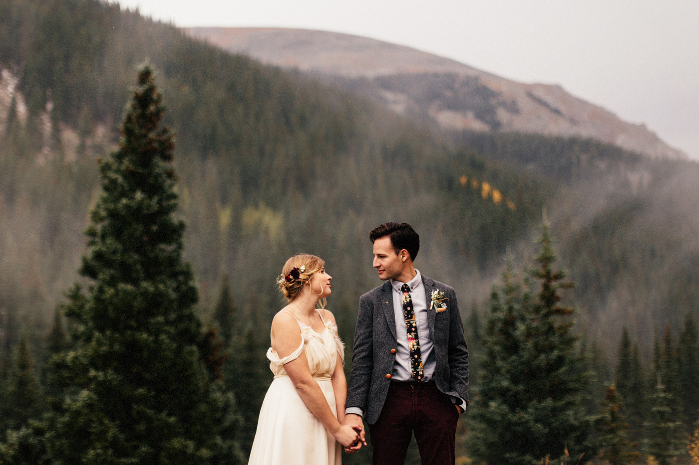 rocky mountain national park guenalla pass elopement wedding por