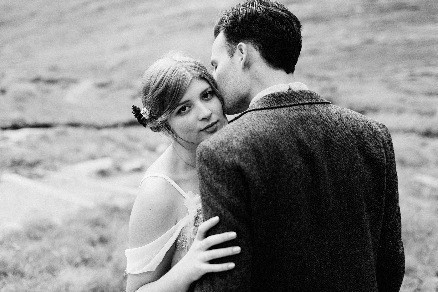 artistic bridal portrait mountains colorado rocky mountain natio