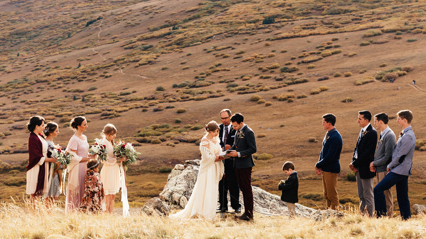 mountainside ceremony location colorado mountains wedding