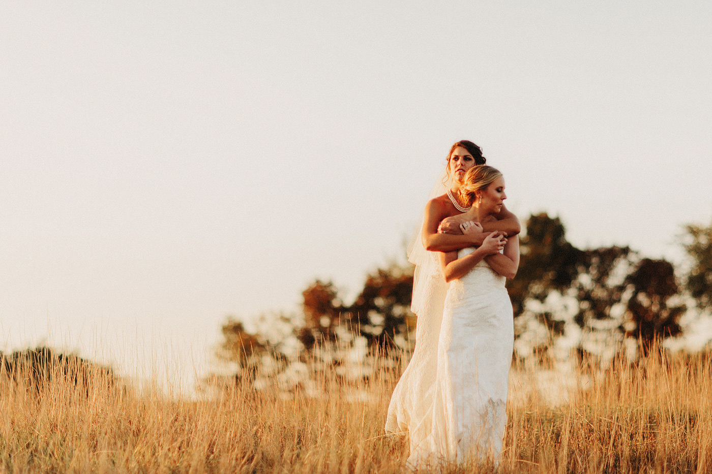 same sex girls wedding photographer kansas city missouri sunset