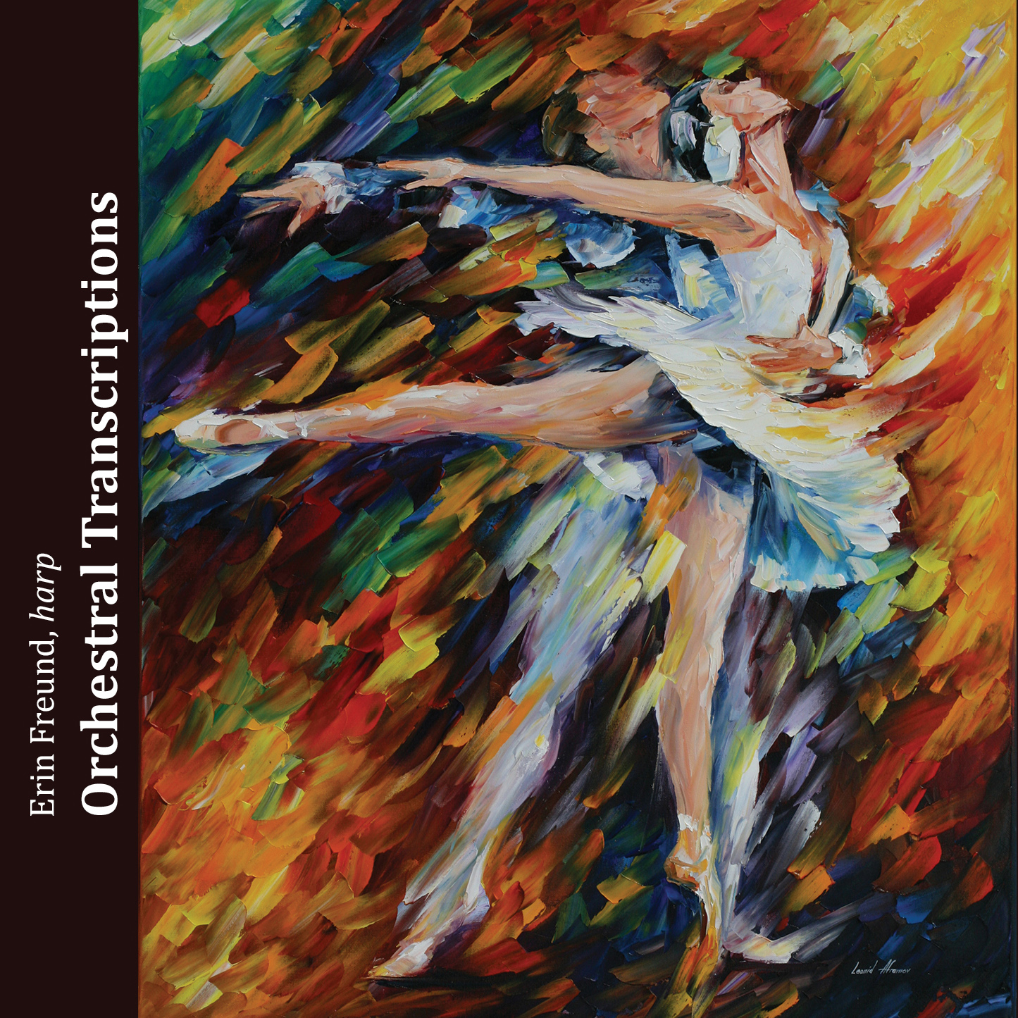 Orchestral Transcriptions , with original harp transcriptions by Tchaikovsky, Wagner, and Mussorgsky. Download from  iTunes , and Amazon , and purchase CD through  Amazon ,  CD Baby , and  ChoralCds.org .
