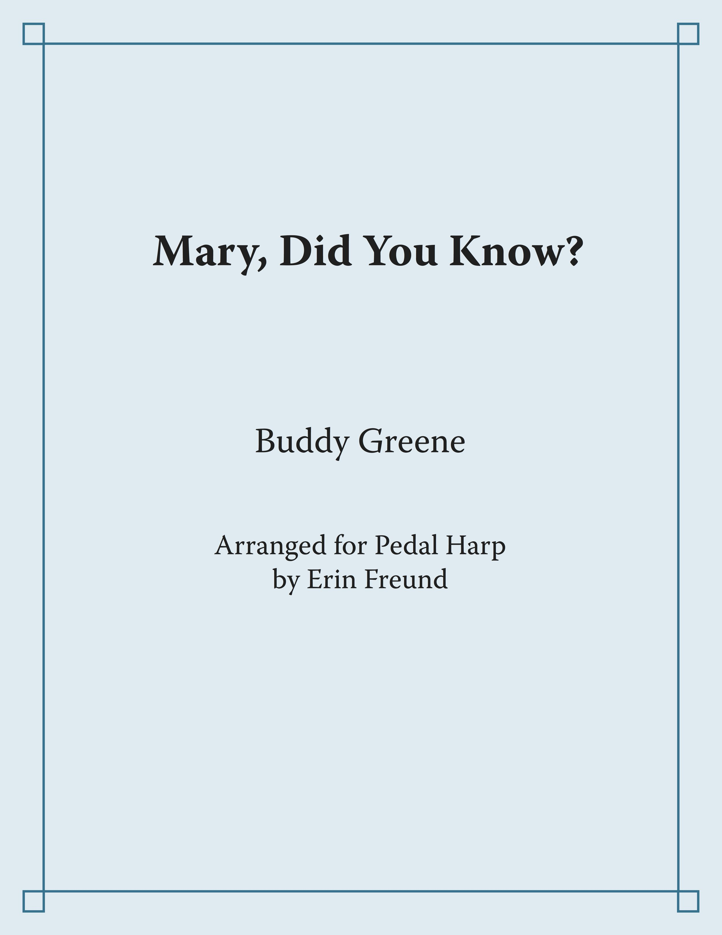 Mary Did You Know cover only.jpg