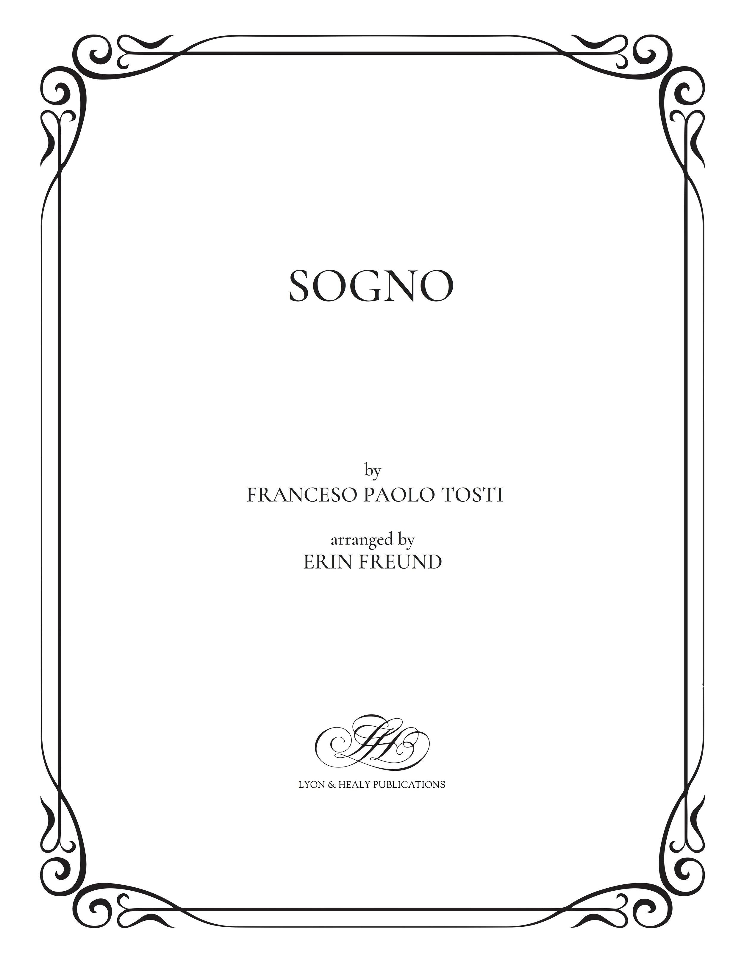 Sogno - Tosti-Freund cover.jpg