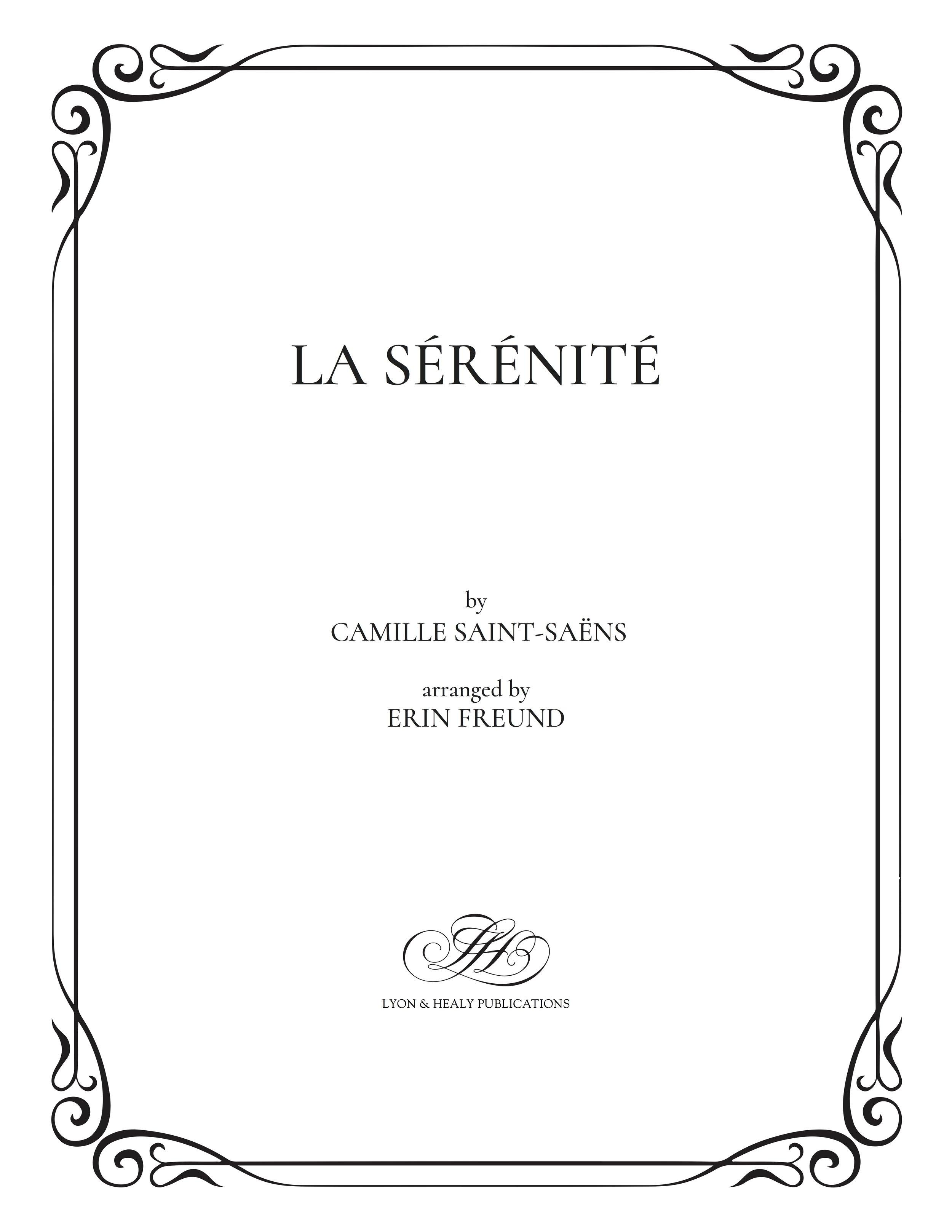 La Sérénité - Saint-Saëns - Freund cover.jpg