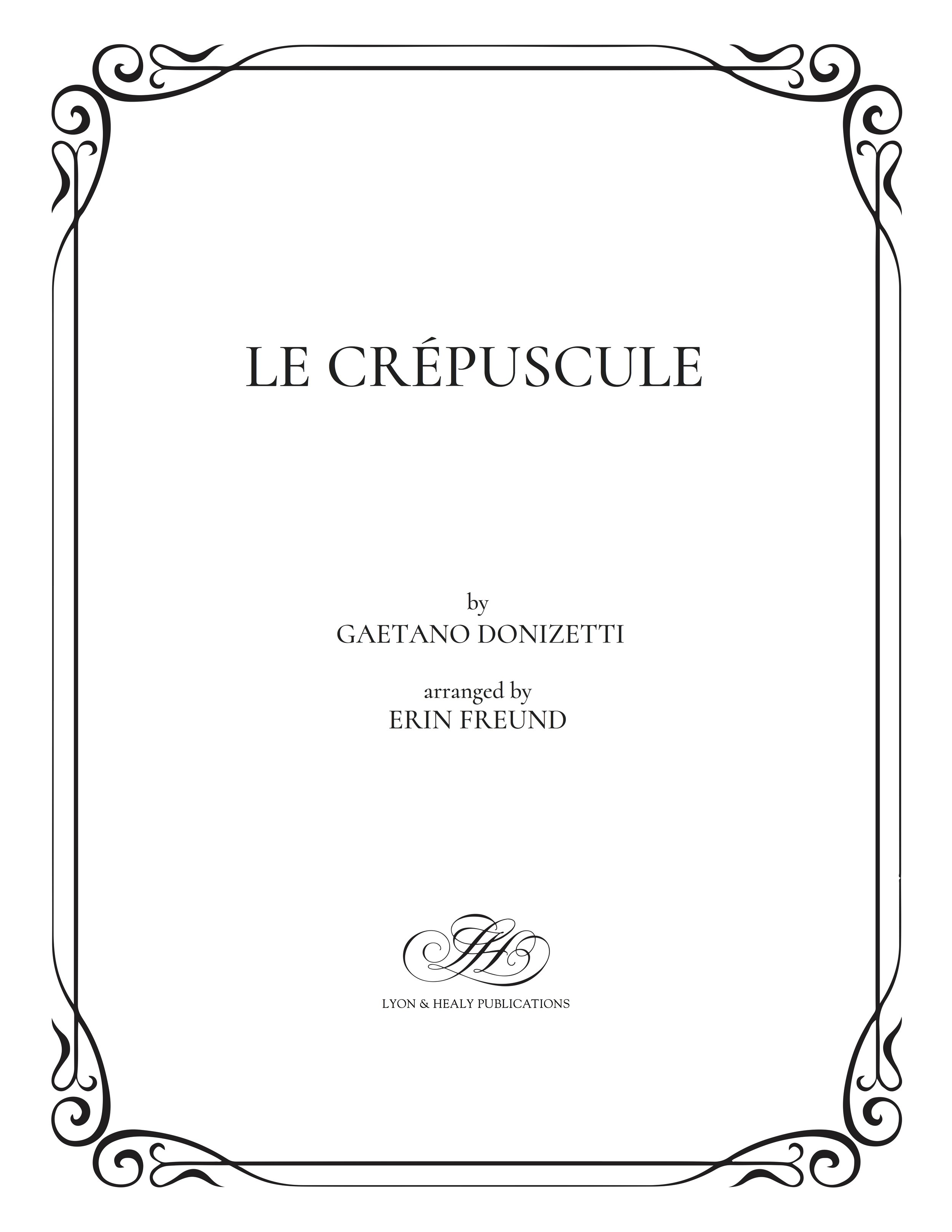 Le Crepuscle - Donizetti-Freund cover.jpg