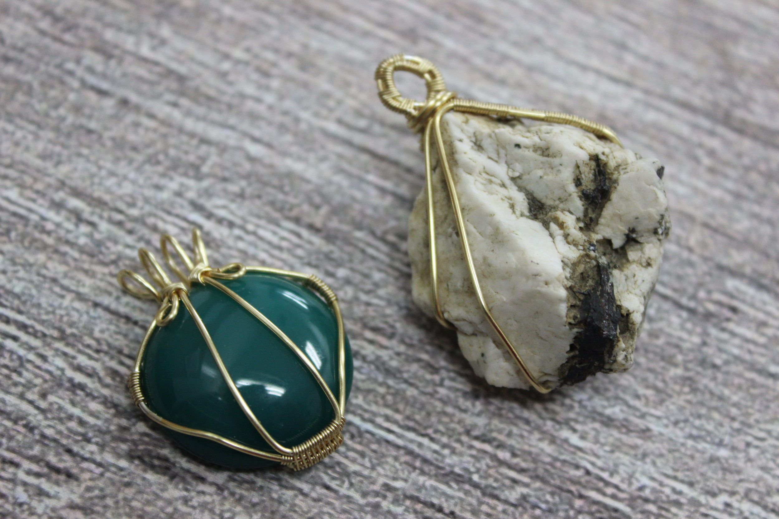 Wire Wrapped Stone Pendant Class Level 2 Ben Franklin