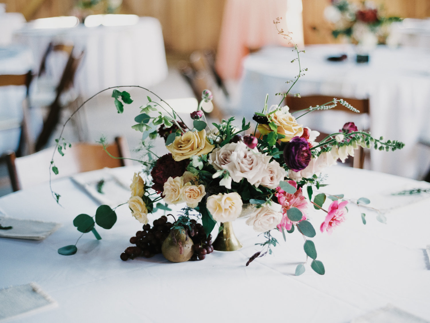 organic garden inspired wedding flowers
