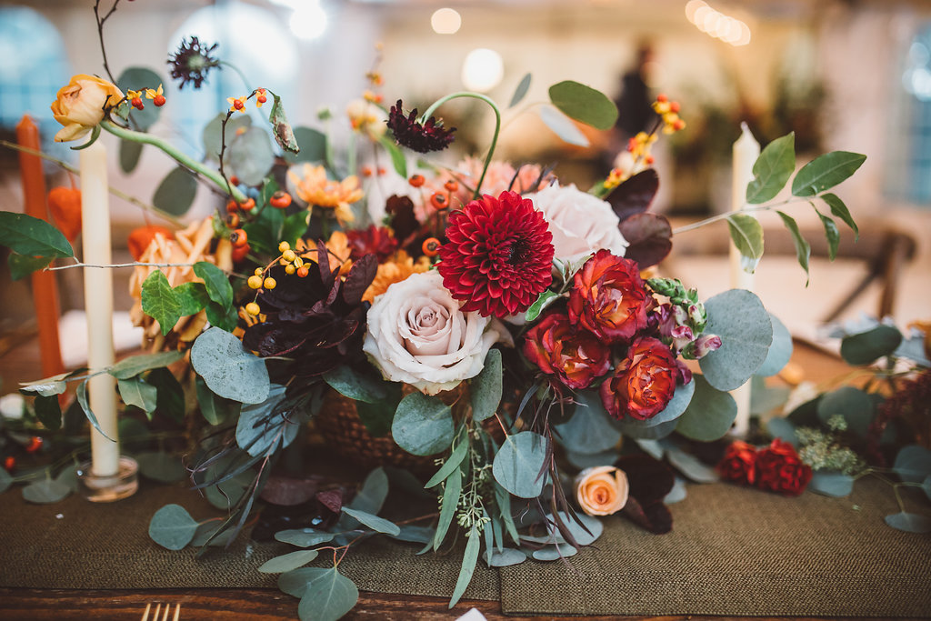 bohemian wedding flowers