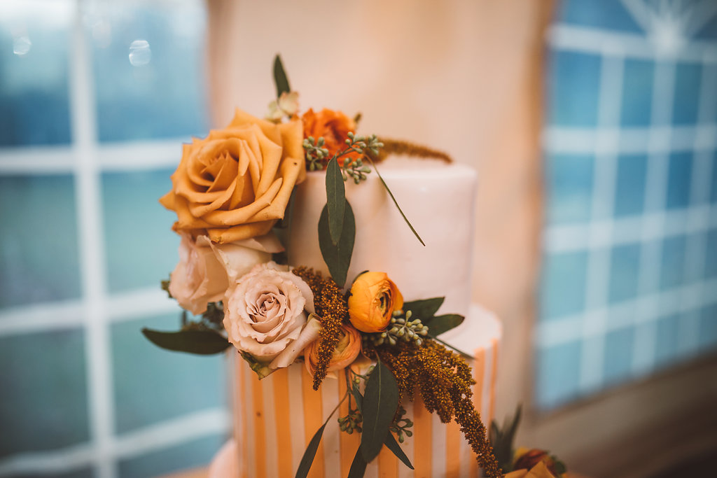 fall orange wedding cake