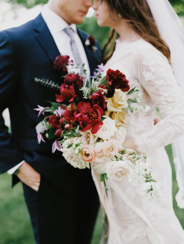 romantic wedding flowers in Lynchburg Virginia