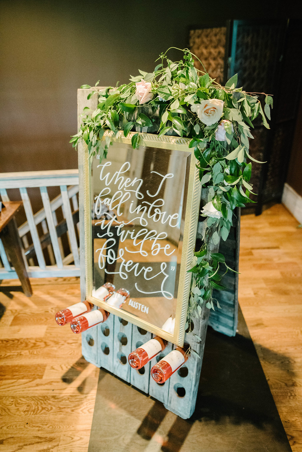 floral sign decor