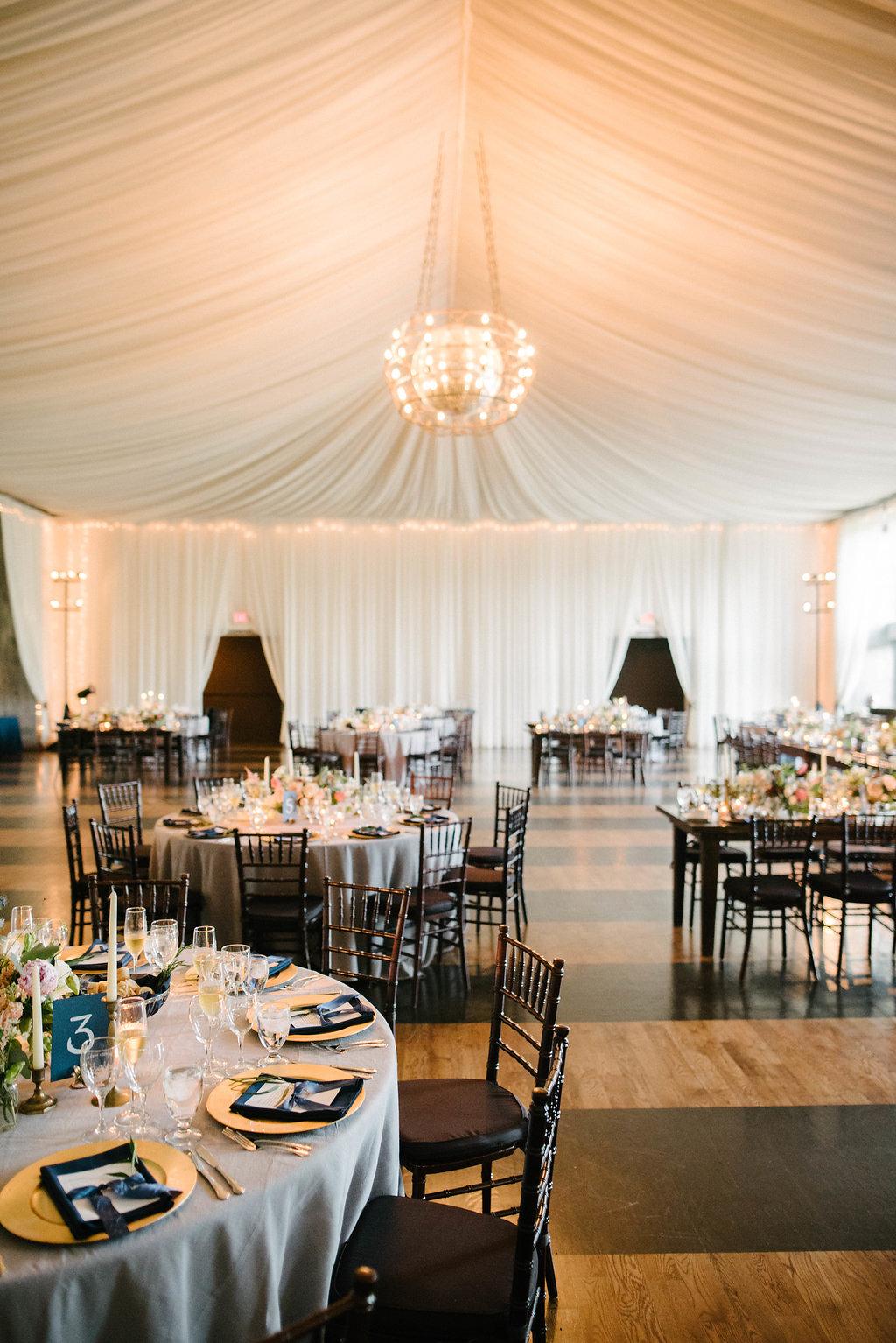 drapery wedding reception
