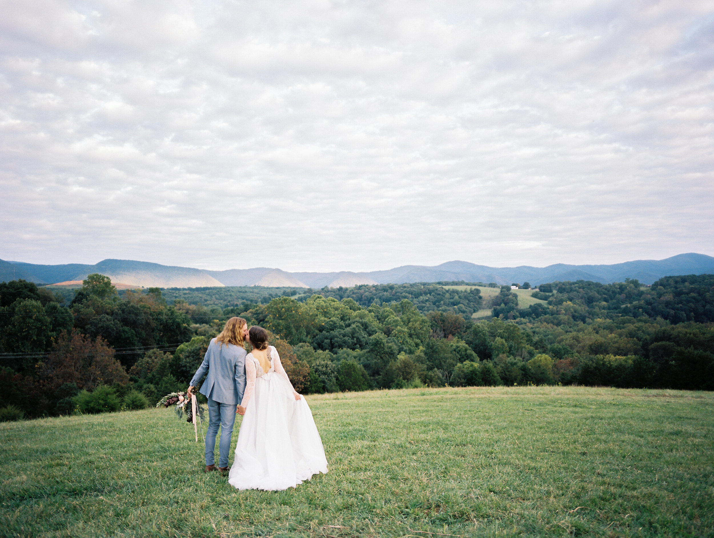 bohemian wedding on a mountain