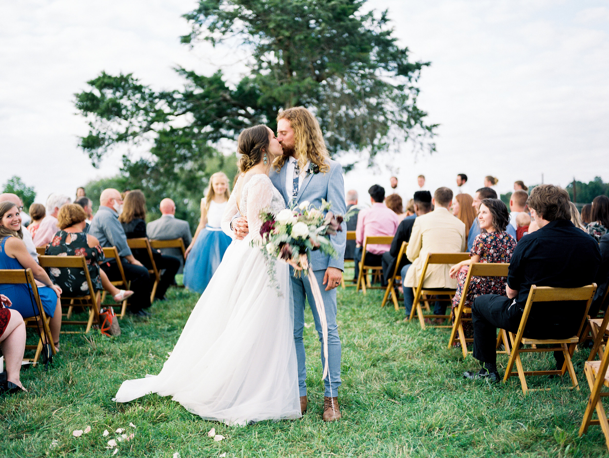 simple outdoor boho wedding