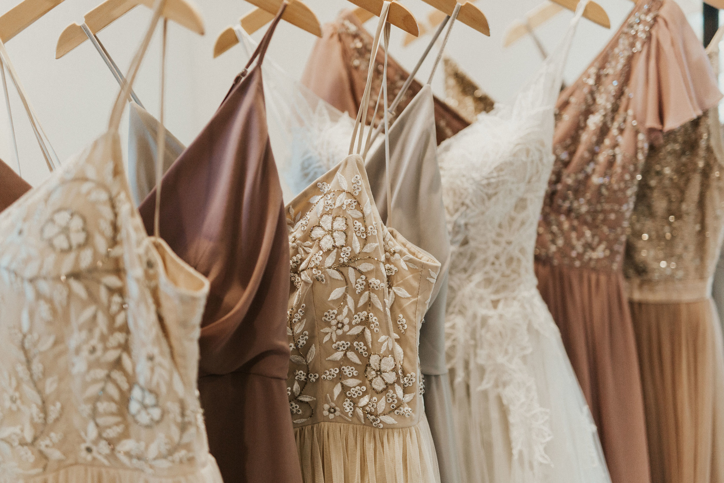 bridesmaid champagne dresses