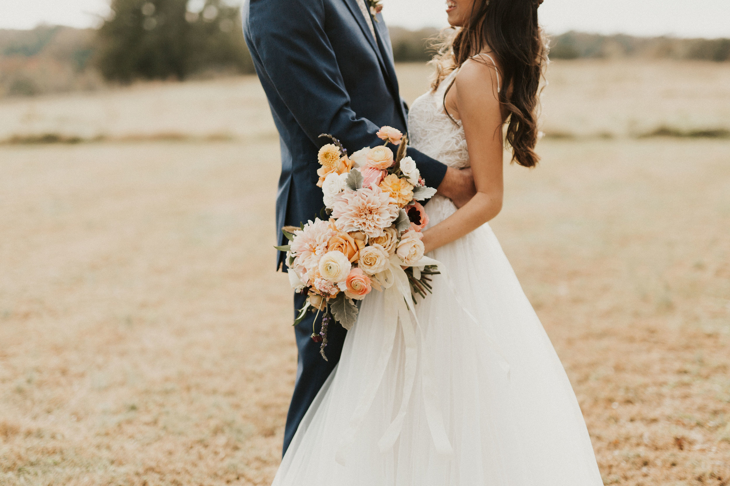 spring wedding bouquet roses