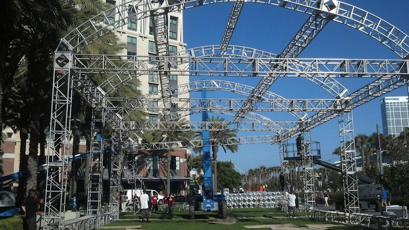 Enders Game Set-up @ Comic-Con 2013