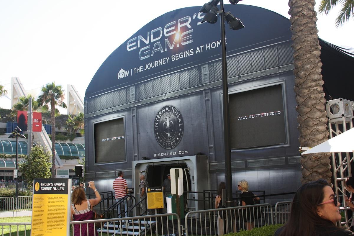 Enders Game Display @ Comic-Con 2013