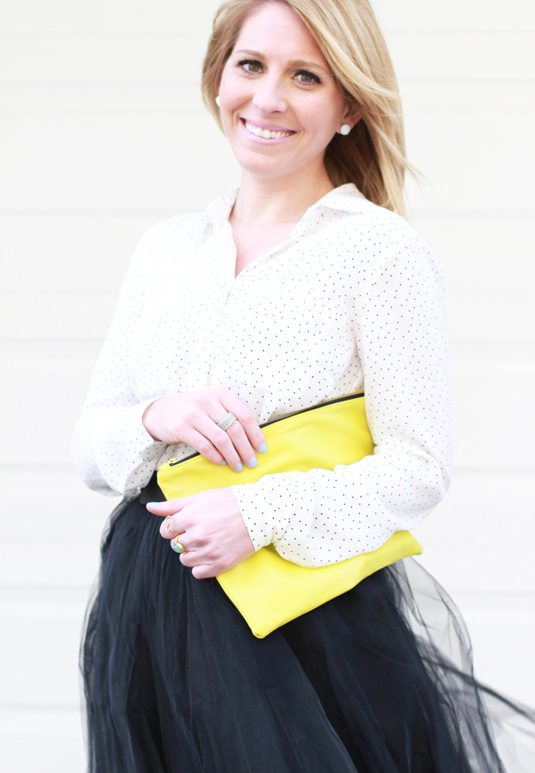 Black Tulle Skirt & Polka Dot Top