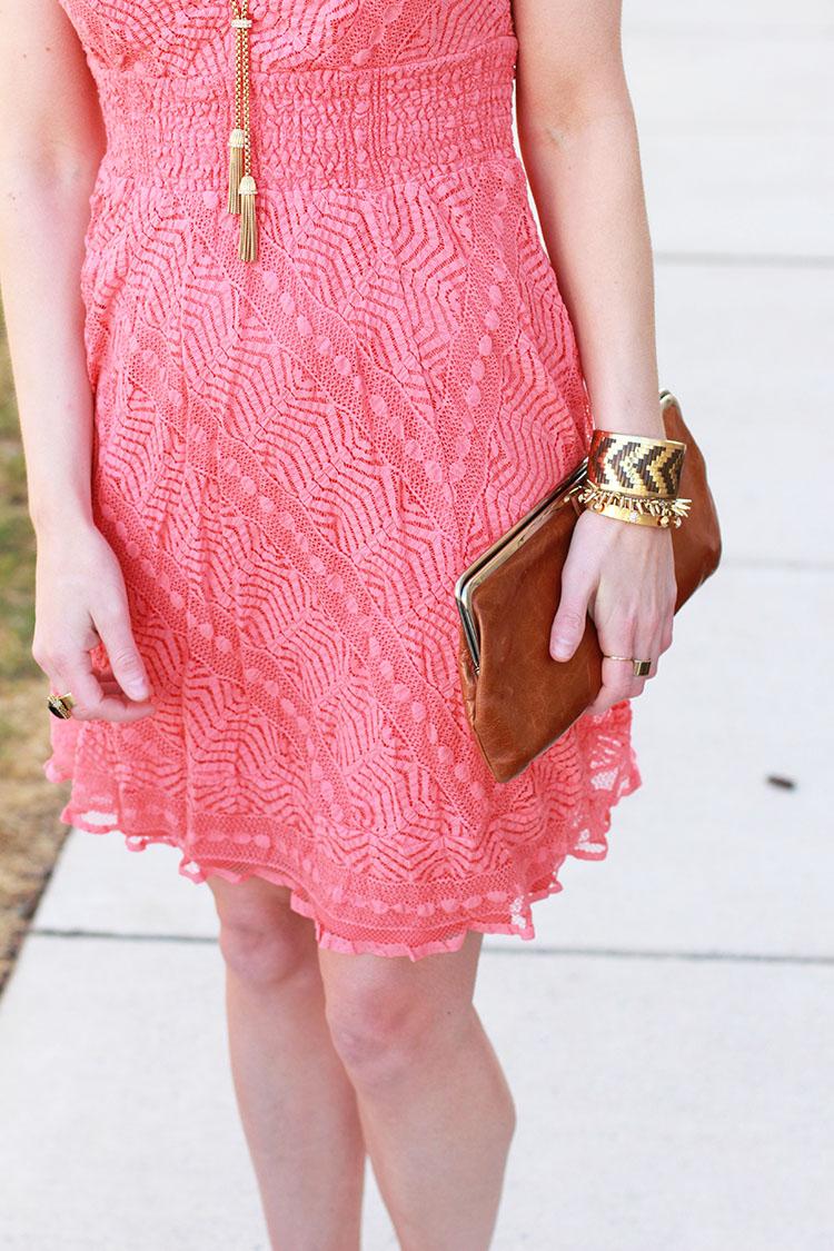Lacey Peach Dress