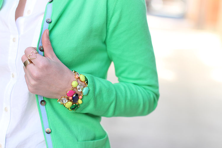 Spring Outfit Idea: Green Cardigan