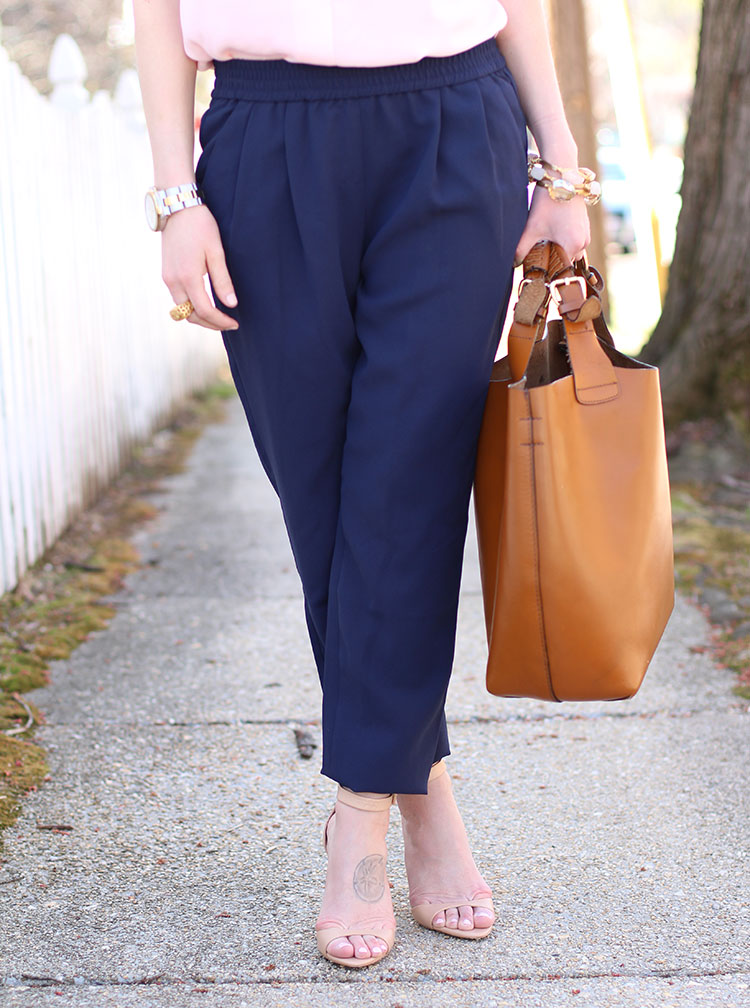 Navy Slouchy Pant