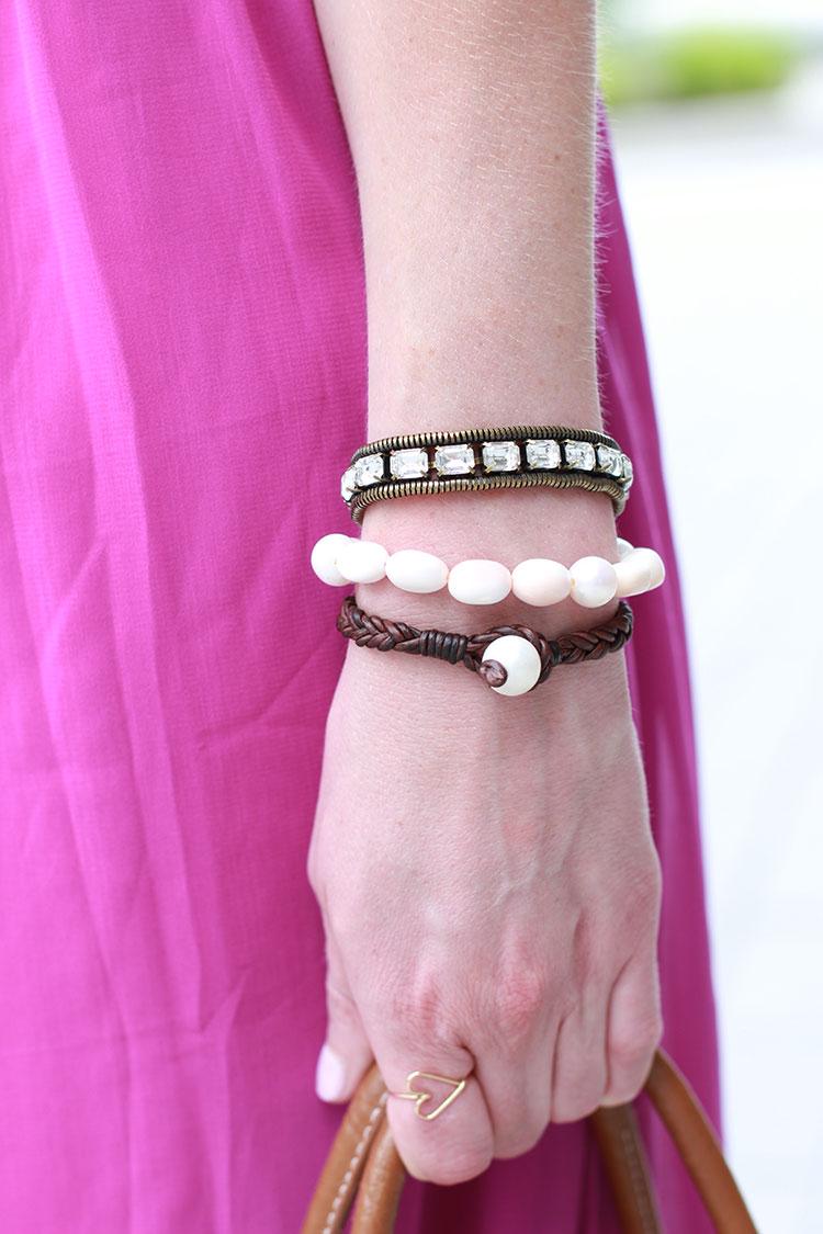 Vincent Peach Bracelets