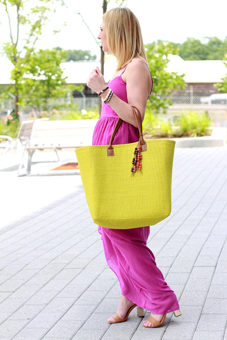 Fuchsia Maxi Dress for Summer