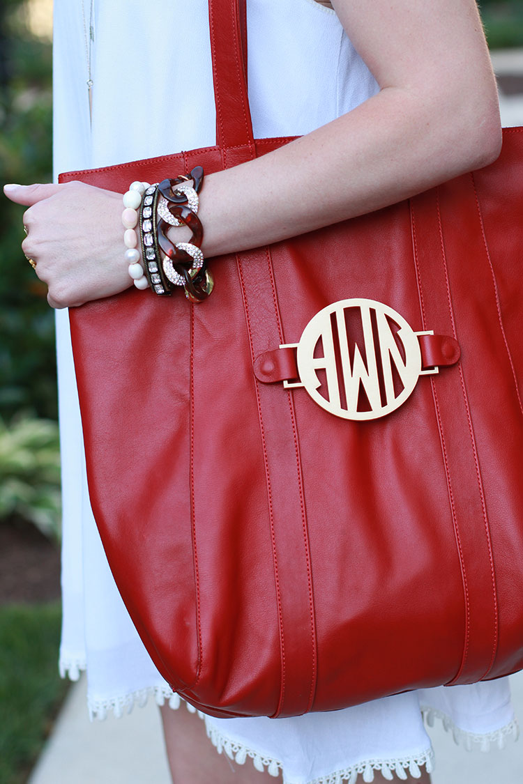 Red Leather Tote