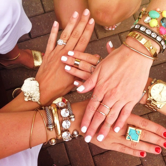Showing off all our jewels: Loren Hope, J. Crew, & Reece & Blair to name a few!