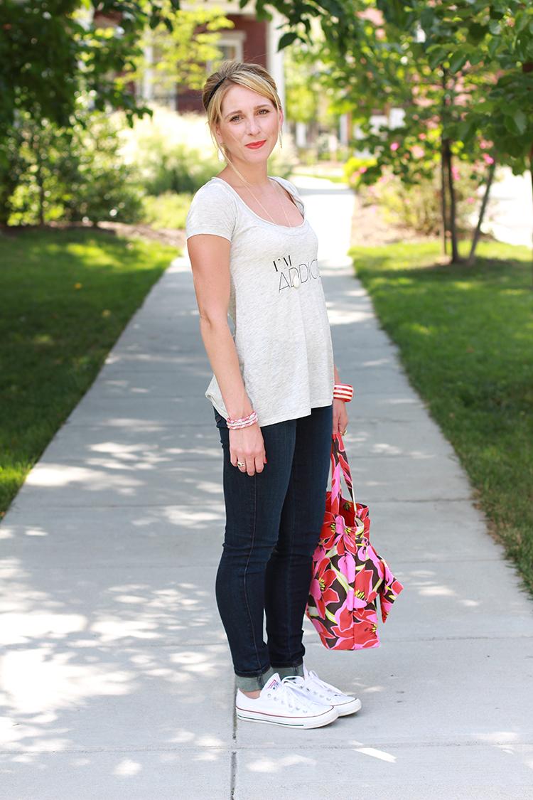 Casual Summer Outfit Idea, White Converse & Denim